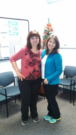 Me and my physical therapist Karen Zucarro. - January, 2015